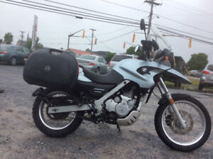 2006 BMWF650gS 33,000 km,new tires,hard bags,windshield$3999