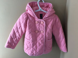 Girls pink babyGap spring/fall coat with hood