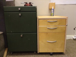 Office Chair and Desk Drawers