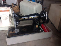 Singer sewing machine hand crank operated