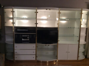 A great deal on a five piece wall cabinet set