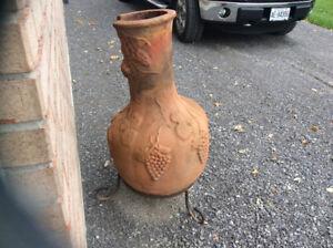 Clay pot & clay Chiminey
