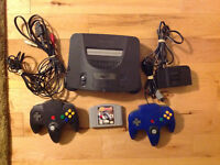 NINTENDO N64 GAME SYSTEM, HOOK UPs 2 CONTROLLERS 1 GAME