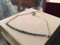 2 carrots real blue diamond bracelet