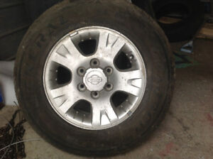 Nissan wheel and tires
