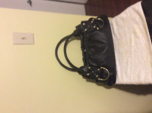 Charles David, Black, Leather, Purse