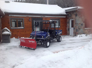 2013 kawasaki mule 4010 and boss plow