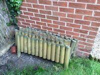 "6 No 9"" Log Panel border edge for flower beds"