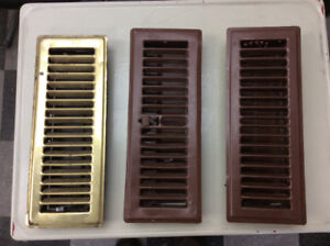 Old heating vent covers