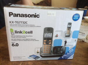 Panasonic dual cordless phone set with link2cell