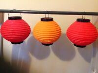 Chinese paper lanterns (12 in total)