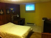 Large basement room Aug 1st for working professional or student