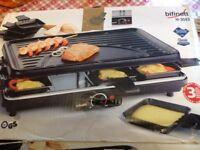Teflon raclette hot plate grill