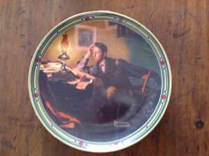 "*** 1985 ROCKWELL - BRADFORD EXCH. PLATE ~ ""A YOUNG MAN'S DREAM"""