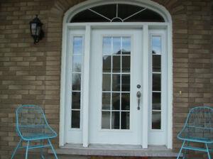 Steel Front door/sidelights&eclipse /Porte d'entrée d'acier