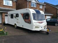BAILEY UNICORN CADIZ SERIES 2 4 BERTH (FIXED SINGLE BEDS) CARAVAN 2014