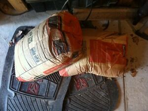 Two full bags of cement