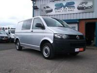15REG VW TRANSPORTER T32 TDI T5 KOMBI CREW 140BHP WITH AIR CON AND SAT NAV @ SVS