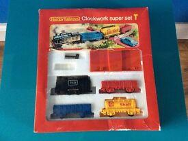 Vintage Hornsby Railways Clockwork Super Set 1