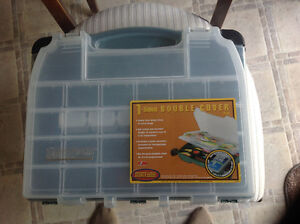 NEW- PLANO 1- Sided Double Cover Green Fishing Tackle Box