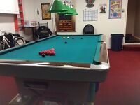 Classic sllate pool table reduced. Brunswick 5x10