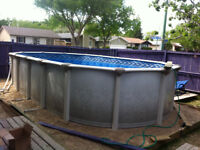 Above ground and semi in ground swimming pool installation