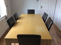 Dining table and 6 chairs - reduced for quick sale