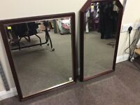 Two good quality mirrors - available individually