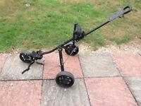 3 wheeled push golf buggy