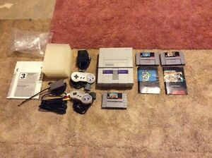 Super Nintendo SNES, Controllers, 3 Games (Mario) Only $130