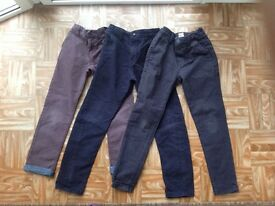 Next Boys age 8yrs Trousers, 3 pairs