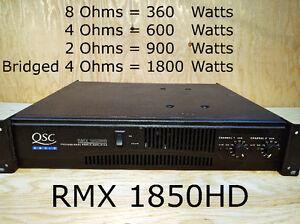 Amplificateur QSC RMX 1850HD power amp