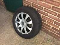 Genuine VW Golf Mk5 Continental 195/65 R15 Alloy Wheels with Tyres