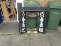 Cast ion Victorian fire surround and grate