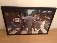Beatles Abbey Road framed Poster