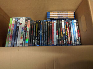 Over 30 Blurays & DVDs
