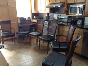 6 Cherry dining room chairs
