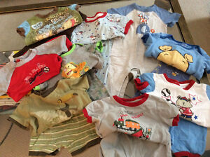 Summer pjs -9 pairs size 12 month