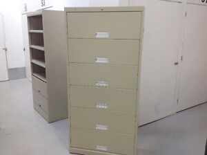 6-DR FIXED SHELF FILE CABINETS