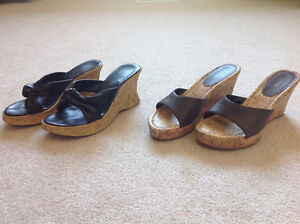 Two pairs of sandals size 6.5 in great condition each $10