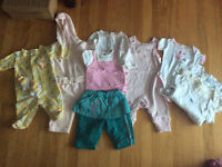 Girl,s clothes 3-6 months