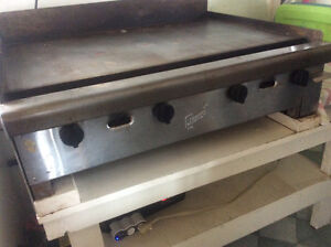Propane commercial flat top griddle