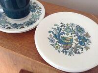 Vintage retro Royal Doulton side plates