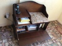 Vintage solid wood telephone table / seat / cupboard..SOLD SOLD