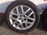 "16"" VW MK4 GOLF GTI MONTREAL ALLOY WHEELS ALLOYS TYRES WHEELS RIMS PCD 5X1OO FITMENT"