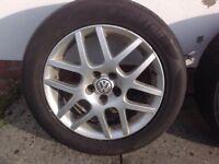 "16"" VW MK4 GOLF GTI MONTREAL ALLOY WHEELS ALLOYS TYRES WHEELS RIMS PCD 5X1OO FITMENT"
