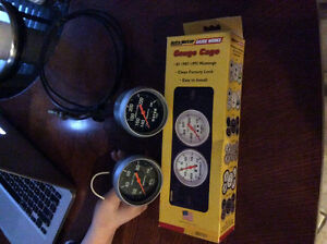 87-93 mustang auto meter sport comp gauges and dual vent pod