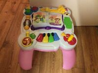 Baby activity play table