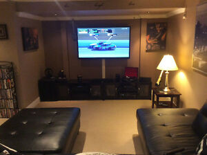 Selling complete mancave 60 TV