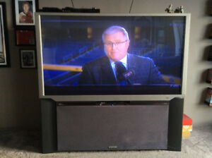 """65"""" Hitachi TV. Great working condition."""